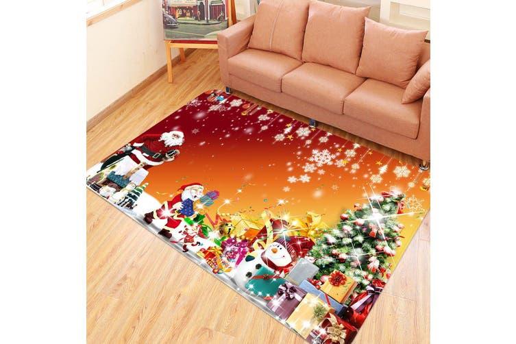 "3D Snowflake Shiny Gift Box 014 Non Slip Rug Mat, 160cmx240cm (63""x94.5"")"
