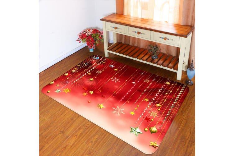 "3D Snowflake Ornaments 012 Non Slip Rug Mat, 60cmx90cm (23.6""x35.4"")"