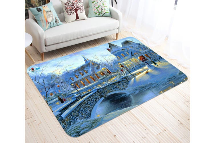 "3D Villa Bridge 011 Non Slip Rug Mat, 80cmx120cm (31.4""x47.24"")"