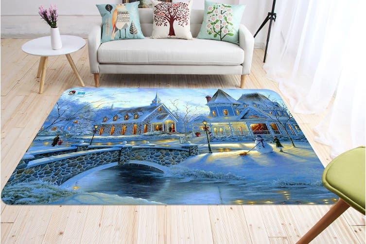 "3D Villa Bridge 011 Non Slip Rug Mat, 160cmx240cm (63""x94.5"")"