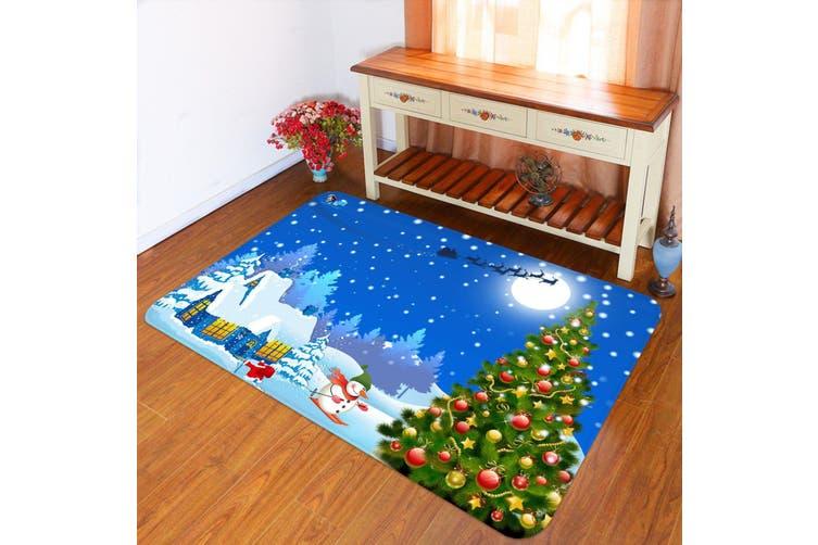 "3D Christmas Tree Skiing 010 Non Slip Rug Mat, 40cmx60cm (15.7""x23.6"")"