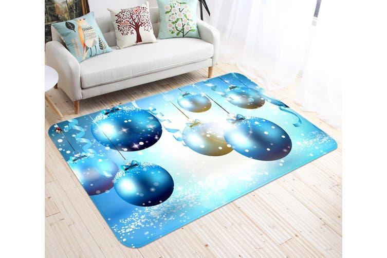"3D Blue Ball Ornaments 007 Non Slip Rug Mat, 40cmx60cm (15.7""x23.6"")"