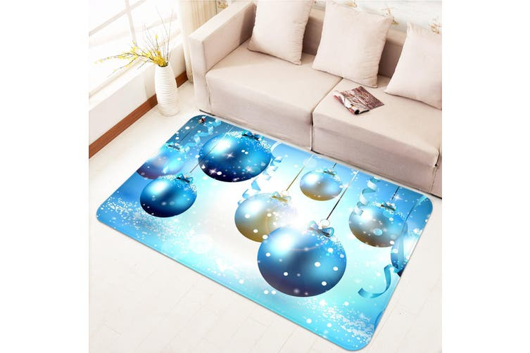 "3D Blue Ball Ornaments 007 Non Slip Rug Mat, 60cmx90cm (23.6""x35.4"")"