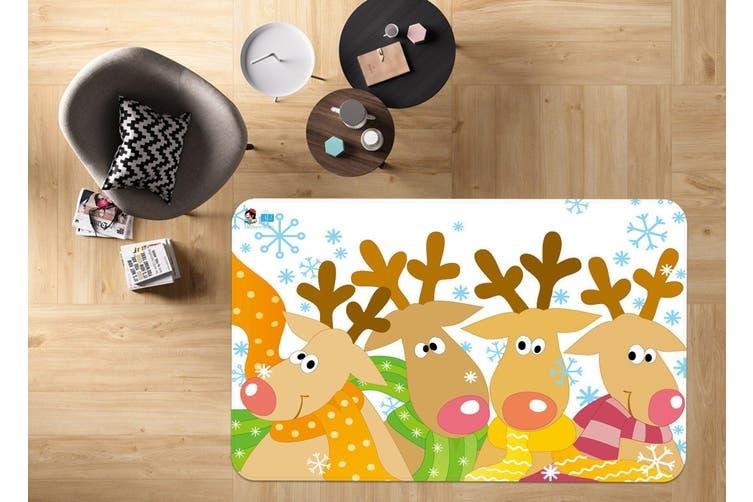 "3D Cartoon Deer Herd 005 Non Slip Rug Mat, 120cmx180cm (47.2""x70.9"")"