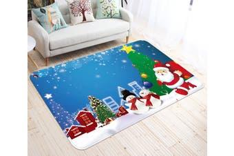 "3D Cartoon Christmas Star 004 Non Slip Rug Mat, 60cmx90cm (23.6""x35.4"")"