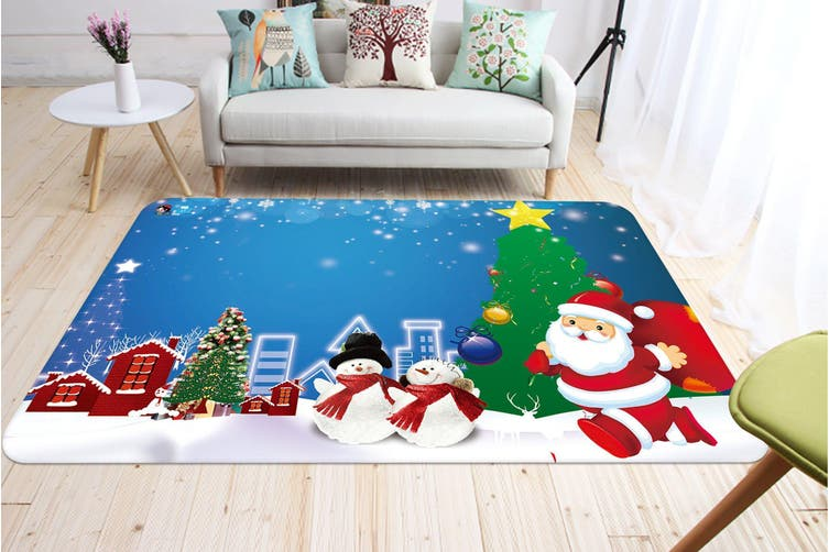 "3D Cartoon Christmas Star 004 Non Slip Rug Mat, 80cmx120cm (31.4""x47.24"")"