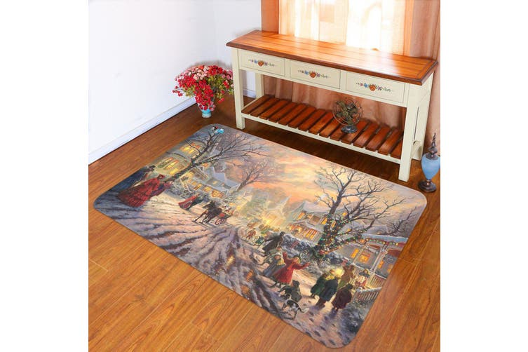 "3D Sunset Carriage 002 Non Slip Rug Mat, 160cmx240cm (63""x94.5"")"