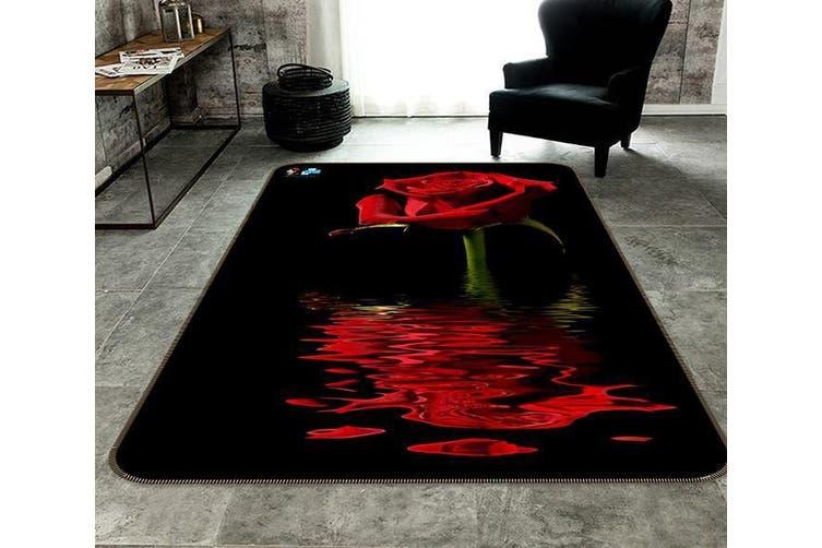 """3D Red Rose 053 Non Slip Rug Mat, 120cmx180cm (47.2""""x70.9"""")"""
