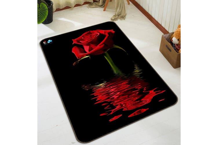 """3D Red Rose 053 Non Slip Rug Mat, 160cmx240cm (63""""x94.5"""")"""