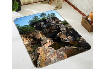"3D Dangerous Stone 050 Non Slip Rug Mat, 60cmx90cm (23.6""x35.4"")"