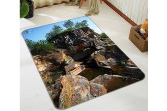 "3D Dangerous Stone 050 Non Slip Rug Mat, 160cmx240cm (63""x94.5"")"