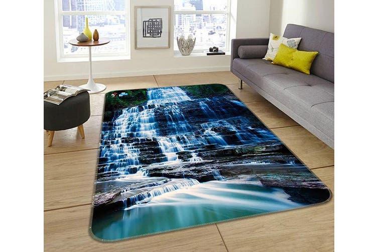 "3D Waterfall Stone 048 Non Slip Rug Mat, 140cmx200cm (55.1""x78.8"")"