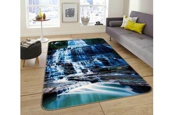 "3D Waterfall Stone 048 Non Slip Rug Mat, 160cmx240cm (63""x94.5"")"