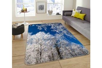 """3D White Tree 047 Non Slip Rug Mat, 60cmx90cm (23.6""""x35.4"""")"""