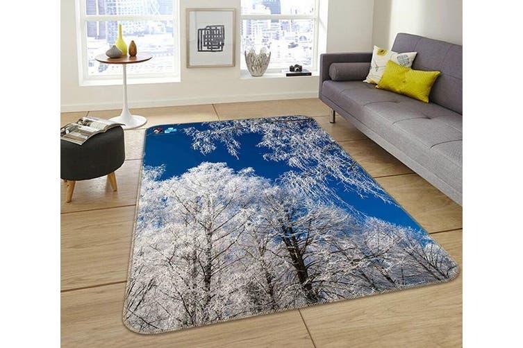 """3D White Tree 047 Non Slip Rug Mat, 80cmx120cm (31.4""""x47.24"""")"""