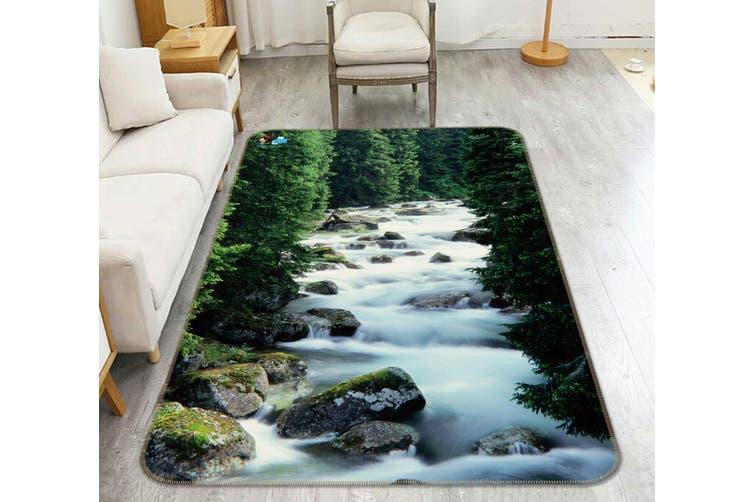 """3D Forest River 046 Non Slip Rug Mat, 40cmx60cm (15.7""""x23.6"""")"""