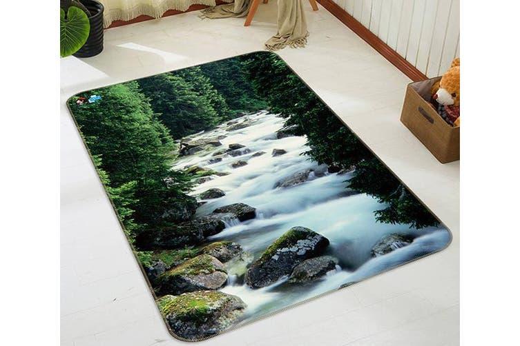 """3D Forest River 046 Non Slip Rug Mat, 140cmx200cm (55.1""""x78.8"""")"""