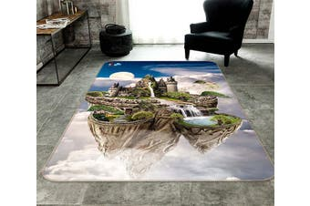 "3D Aerial Castle 045 Non Slip Rug Mat, 120cmx180cm (47.2""x70.9"")"