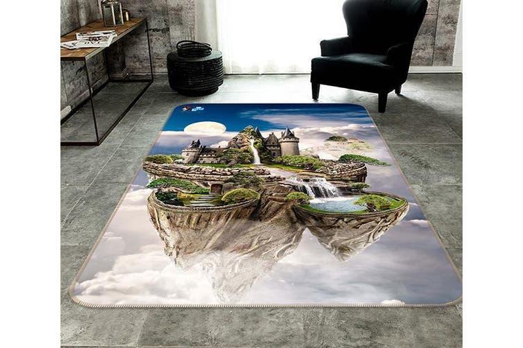 "3D Aerial Castle 045 Non Slip Rug Mat, 140cmx200cm (55.1""x78.8"")"
