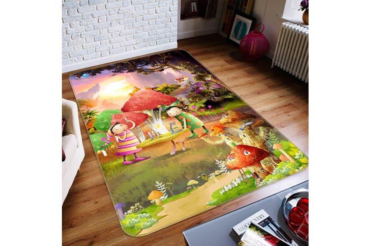 "3D Cartoon Mushroom 041 Non Slip Rug Mat, 60cmx90cm (23.6""x35.4"")"