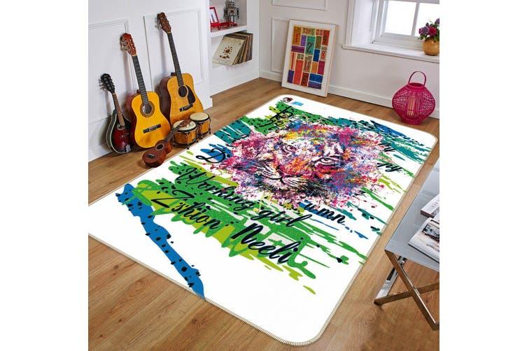 "3D Painting Lion 038 Non Slip Rug Mat, 60cmx90cm (23.6""x35.4"")"
