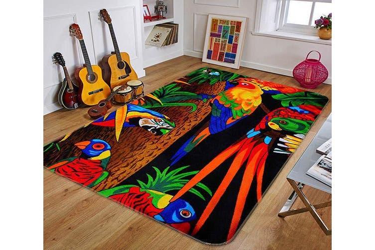 "3D Beautiful Parrot 036 Non Slip Rug Mat, 160cmx240cm (63""x94.5"")"