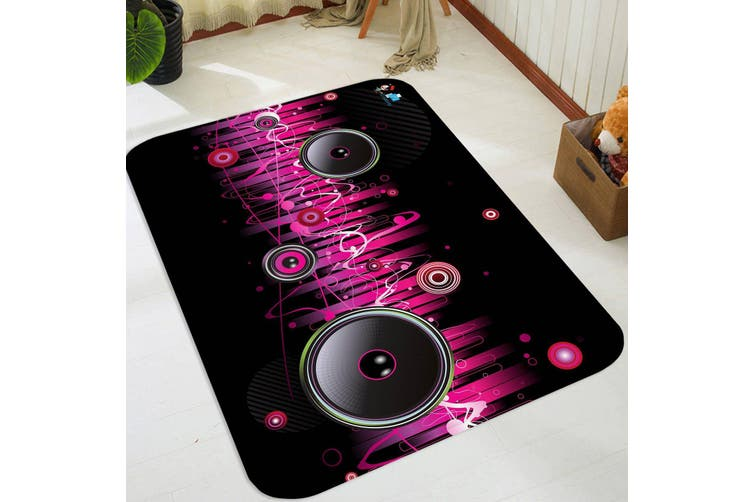 "3D Music Audio 17 Non Slip Rug Mat, 60cmx90cm (23.6""x35.4"")"