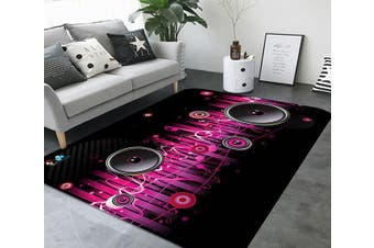 "3D Music Audio 17 Non Slip Rug Mat, 160cmx240cm (63""x94.5"")"