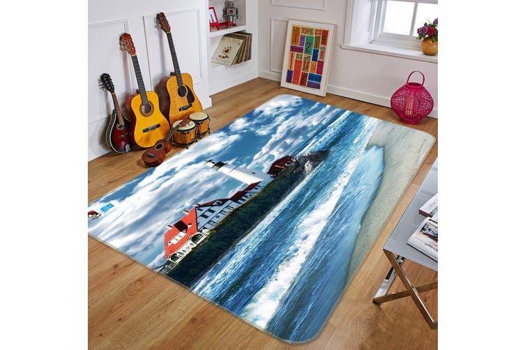 "3D Lighthouse Sea 704 Non Slip Rug Mat, 160cmx240cm (63""x94.5"")"