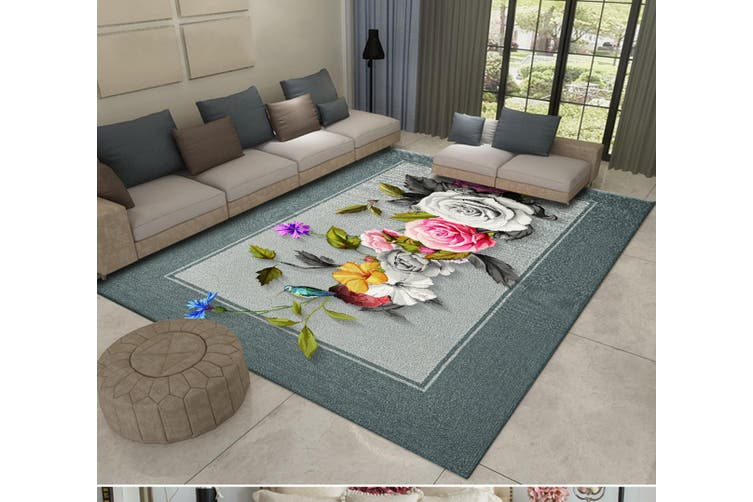 "3D Flower Bird WG470 Non Slip Rug Mat, 60cmx90cm (23.6""x35.4"")"