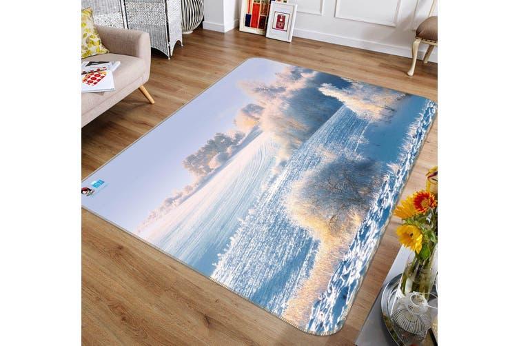 """3D White Snow 699 Non Slip Rug Mat, 160cmx240cm (63""""x94.5"""")"""
