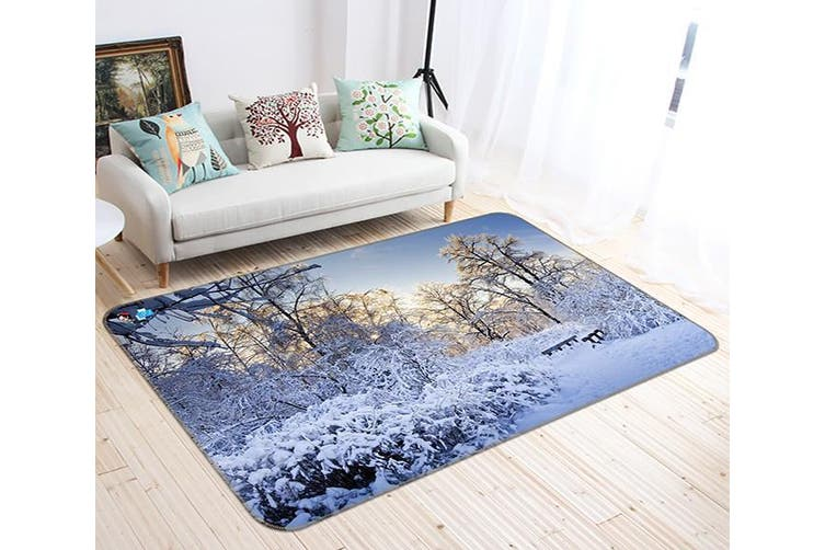 "3D Snow Cover 698 Non Slip Rug Mat, 120cmx180cm (47.2""x70.9"")"