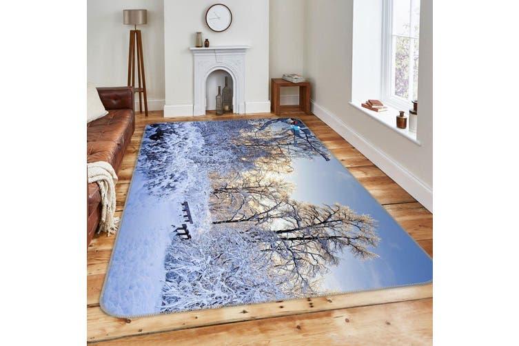 "3D Snow Cover 698 Non Slip Rug Mat, 140cmx200cm (55.1""x78.8"")"