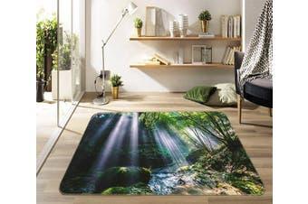 """3D Moss River 696 Non Slip Rug Mat, 80cmx120cm (31.4""""x47.24"""")"""