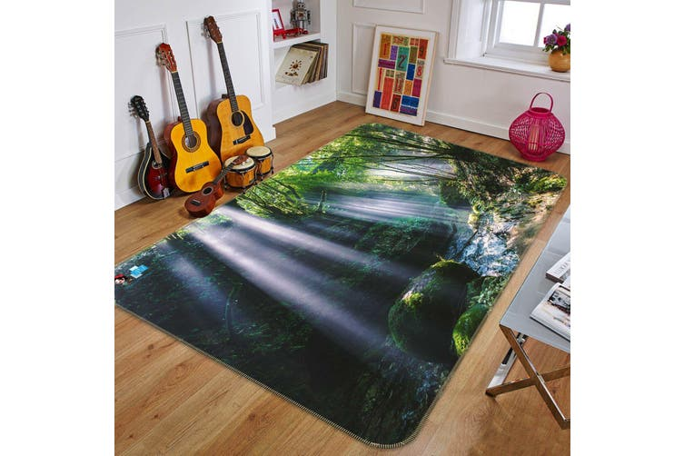 """3D Moss River 696 Non Slip Rug Mat, 160cmx240cm (63""""x94.5"""")"""