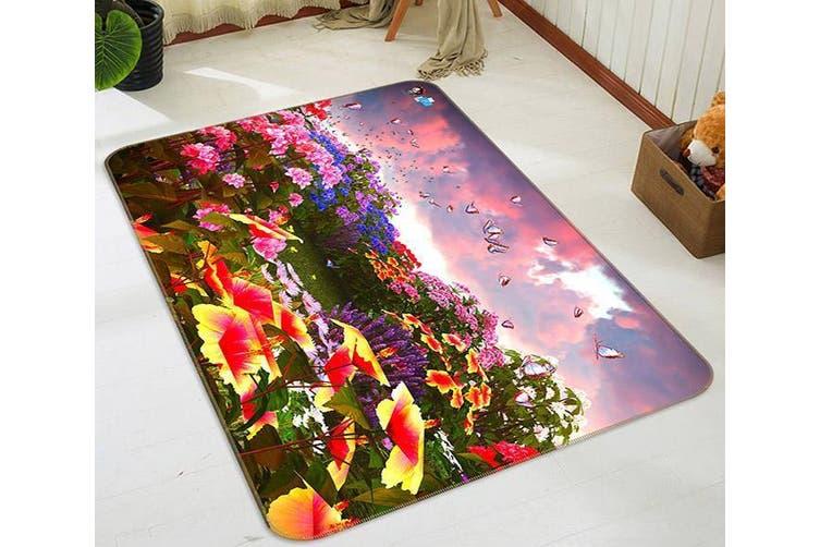 """3D Swallow Butterfly 695 Non Slip Rug Mat, 160cmx240cm (63""""x94.5"""")"""