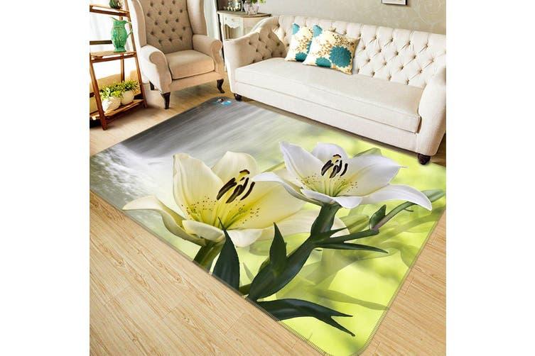 "3D Waterfall Lily 694 Non Slip Rug Mat, 160cmx240cm (63""x94.5"")"
