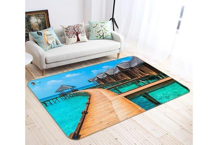 "3D Boardwalk House 691 Non Slip Rug Mat, 160cmx240cm (63""x94.5"")"