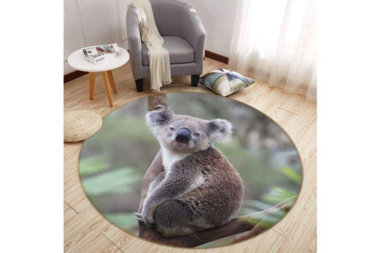 3D Koala Baby 069 Animal Round Non Slip Rug Mat, 60cm(23.6'')