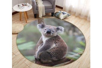 3D Koala Baby 069 Animal Round Non Slip Rug Mat, 100cm(39.4'')