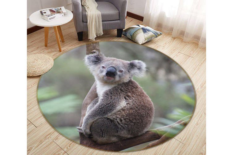 3D Koala Baby 069 Animal Round Non Slip Rug Mat, 200cm(78.7'')