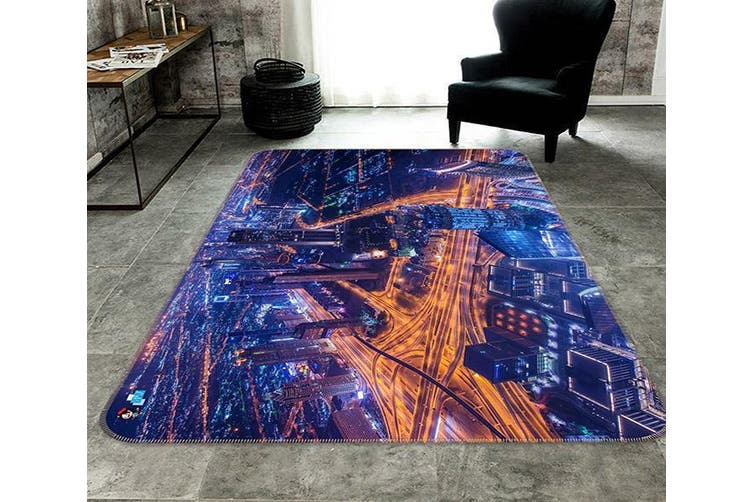 "3D Highway Light 689 Non Slip Rug Mat, 160cmx240cm (63""x94.5"")"