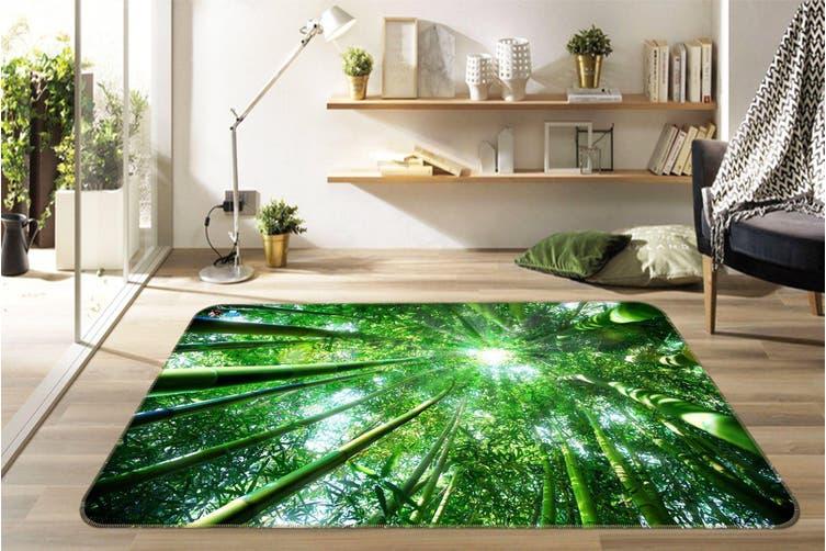"""3D Sunlight Bamboo Forest 688 Non Slip Rug Mat, 80cmx120cm (31.4""""x47.24"""")"""