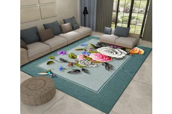 "3D Flower Bird WG468 Non Slip Rug Mat, 160cmx240cm (63""x94.5"")"