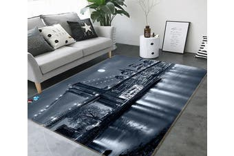 "3D Night Bridge 677 Non Slip Rug Mat, 80cmx120cm (31.4""x47.24"")"