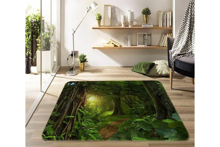 """3D Deep Forest 675 Non Slip Rug Mat, 140cmx200cm (55.1""""x78.8"""")"""