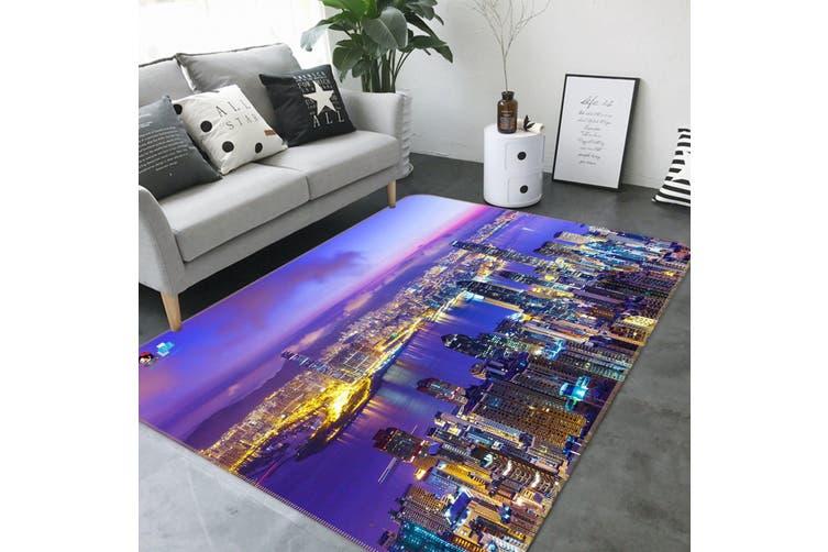 "3D Night View City 672 Non Slip Rug Mat, 40cmx60cm (15.7""x23.6"")"