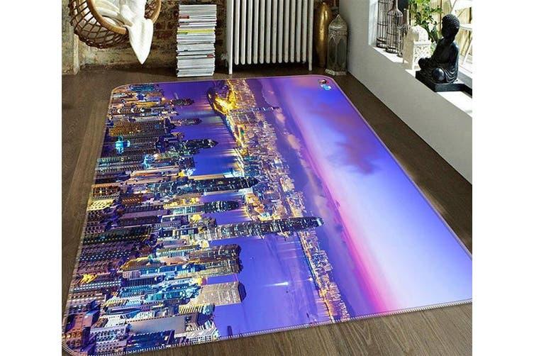"3D Night View City 672 Non Slip Rug Mat, 120cmx180cm (47.2""x70.9"")"