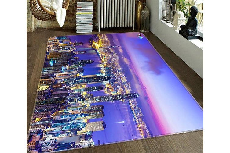 "3D Night View City 672 Non Slip Rug Mat, 140cmx200cm (55.1""x78.8"")"