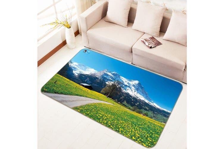 """3D Snow Mountain 671 Non Slip Rug Mat, 160cmx240cm (63""""x94.5"""")"""